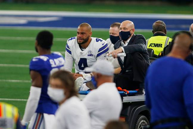 An emotional Dak Prescott was brought to tears following the injury. Credit: PA