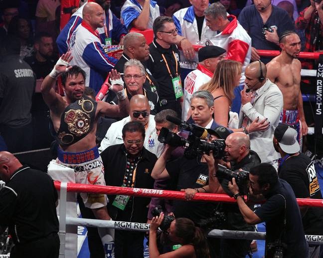 Pacquiao is still winning titles at 41. Image: PA Images