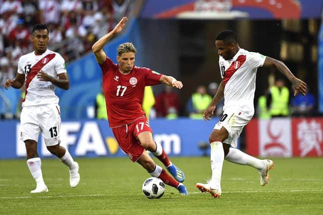 Farfan in action vs. Denmark. Image: PA