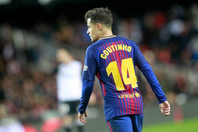 Coutinho has worn 14 at Barca before. Image: PA Images