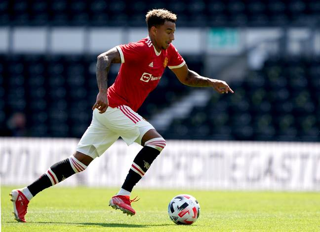 Jesse Lingard featured in Manchester United's pre-season win against Derby on Sunday. Image credit: PA