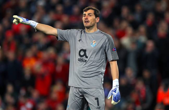 Casillas in action with Porto against Liverpool back in April. (Image Credit: PA)