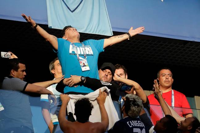 Maradona was on ridiculous form throughout Argentina's four games. Image: PA Images