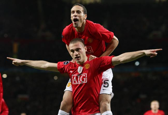 Ferdinand and Vidic are one of the best defensive partnerships in Premier League history. Image: PA Images
