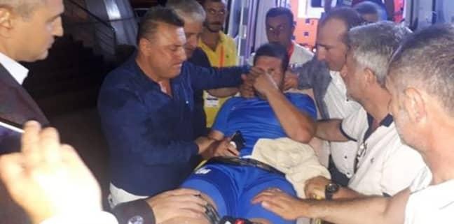 El Kabir is taken to hospital. Image: Fotomac
