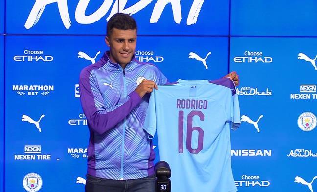 Rodri has moved to Manchester City as a potential replacement for Fernandinho. Image: PA Images