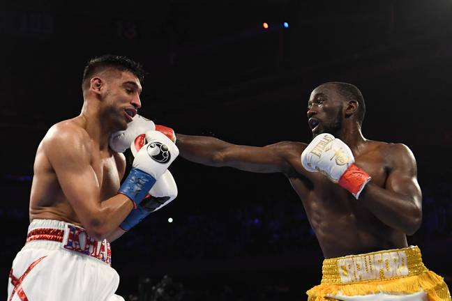 Crawford totally outclassed Khan. Image: PA Images
