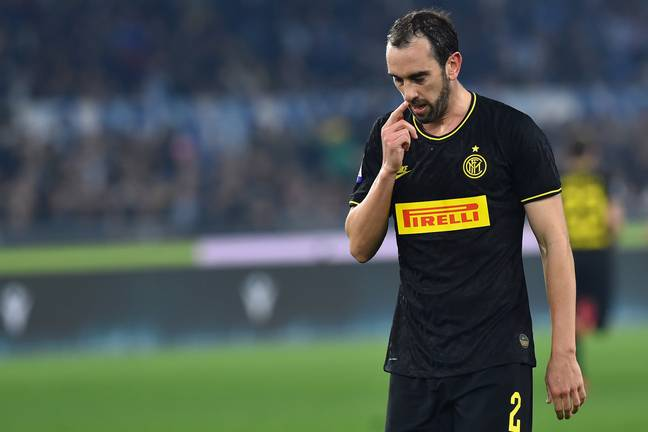 Godin has fallen out of favour at the San Siro. Image: PA Images