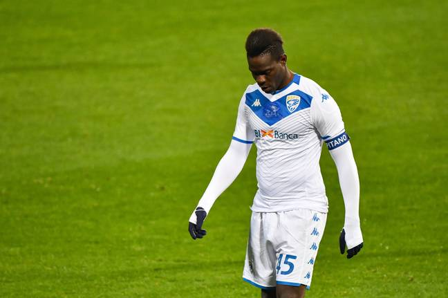 Balotelli hasn't been able to recapture his form for Brescia. Image: PA Images