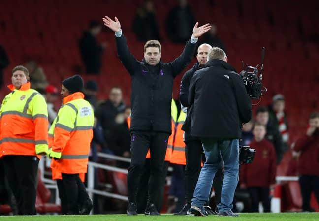 Pochettino managing at the Emirates against Arsenal. Image: PA Images