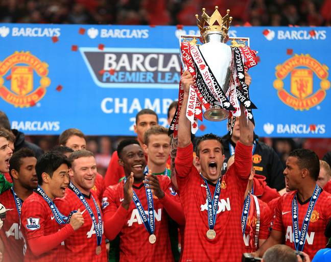 Van Persie won the title with United but not Arsenal. Image: PA Images