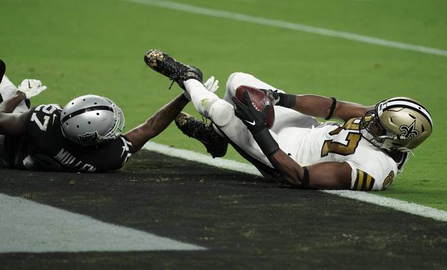 The 15-leg multi rested on Saint TE Jared Cook getting into the end zone. Credit: PA
