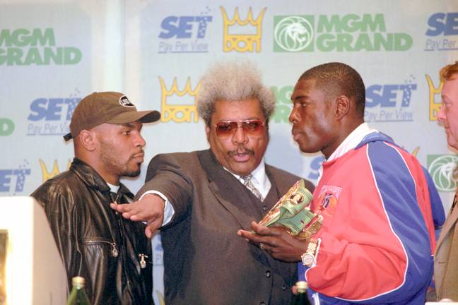 Tyson eyes winning back the world title against Frank Bruno. Image: PA Images