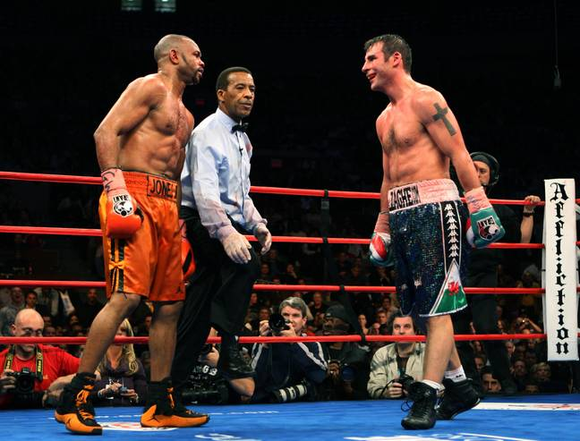 Roy Jones Jr takes on Joe Calzaghe in 2008. Credit: PA