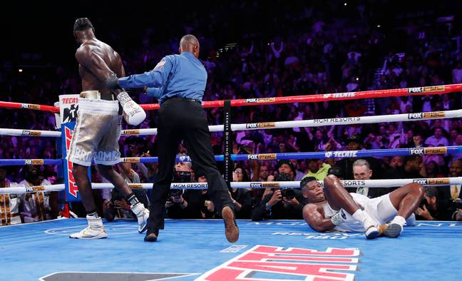 Deontay Wilder produced a devastating finish to beat Luis Ortiz at the MGM Grand