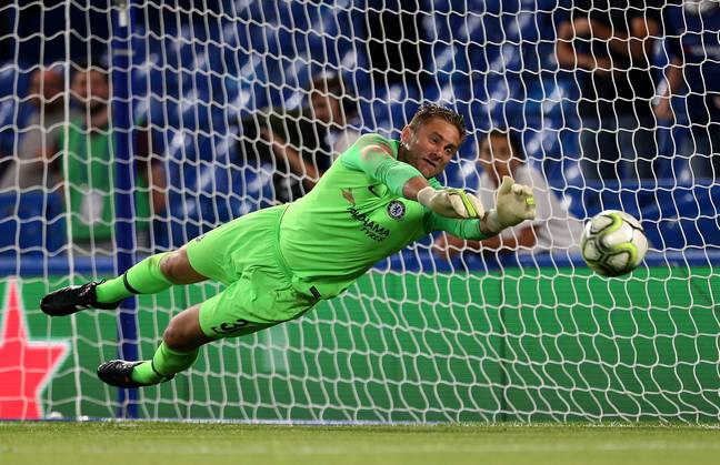 Rob Green saves a penalty. Image: PA Images