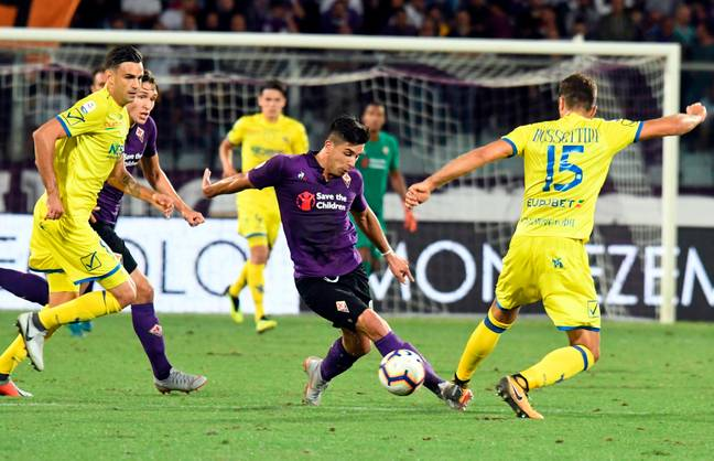 Simeone in action for Fiorentina. Image: PA