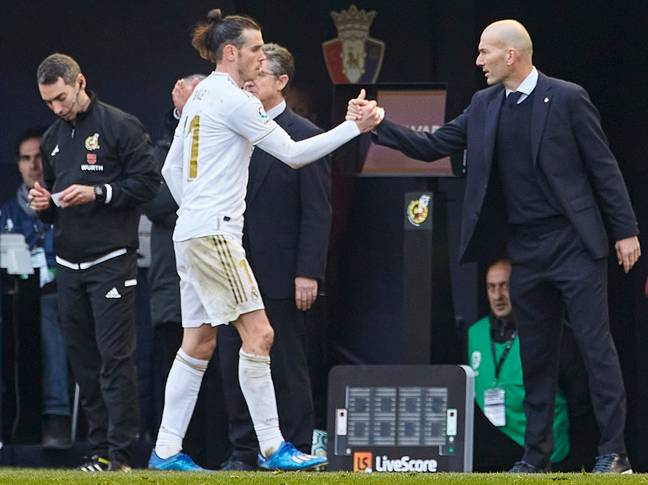 Bale and Zidane didn't have the best relationship in Madrid. Image: PA Images