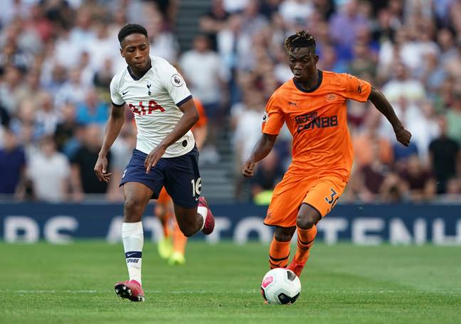 Walker-Peters playing against Newcastle United. Image: PA Images