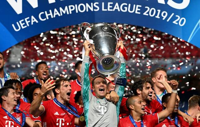 Bayern won the Champions League in August, beating PSG in the final. Image: PA Images