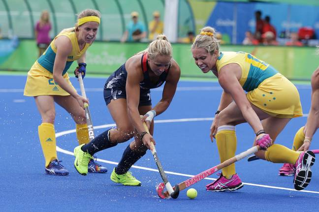 The Hockeyroos during the 2016 Olympics. Credit: PA