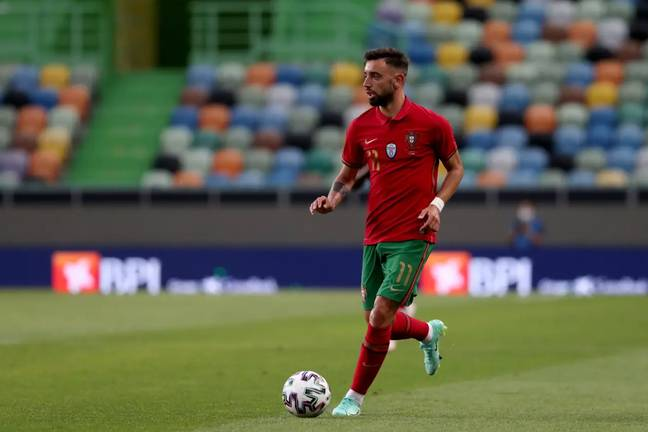 Bruno Fernandes will be hoping to replicate his Manchester United form in the Portuguese strip