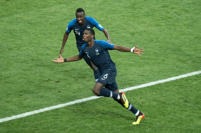 Pogba celebrating his goal in the final. Image: PA Images