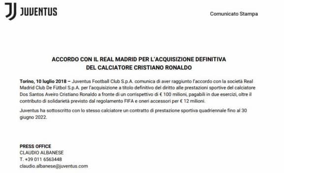 Image: Juventus/Twitter