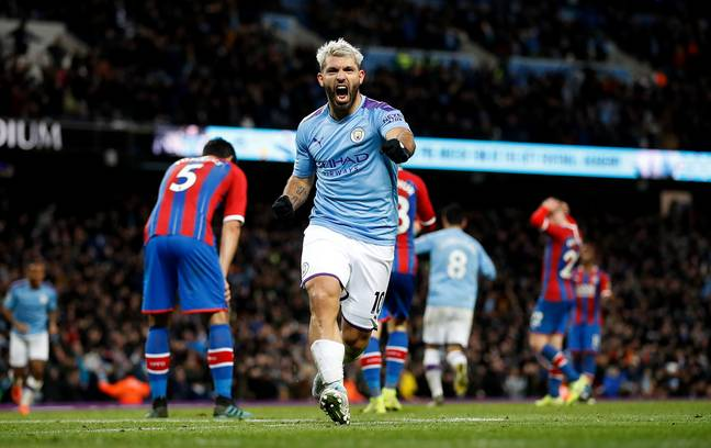 Aguero will soon only have Rooney and Alan Shearer ahead of him. Image: PA Images