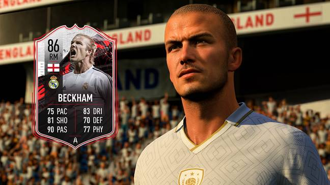 David Beckham was finally added as an Icon in FIFA 21 (Credit: EA)