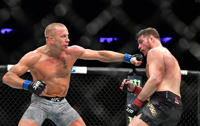GSP connects against Bisping. Image: PA Images