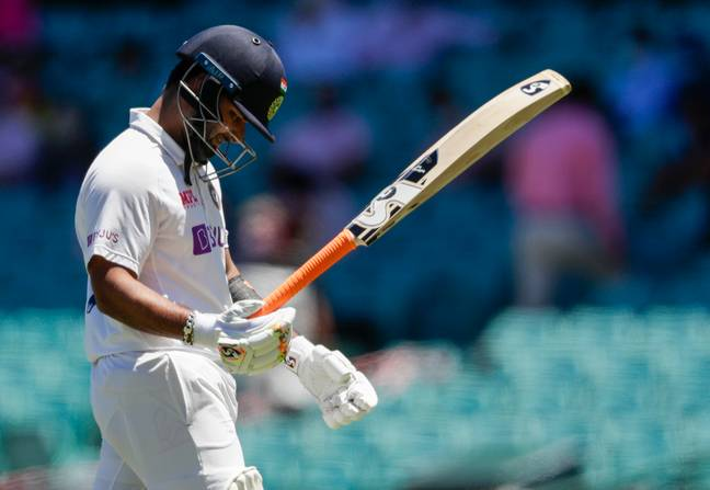 Rishabh Pant was eventually dismissed by Nathan Lyon. Credit: PA