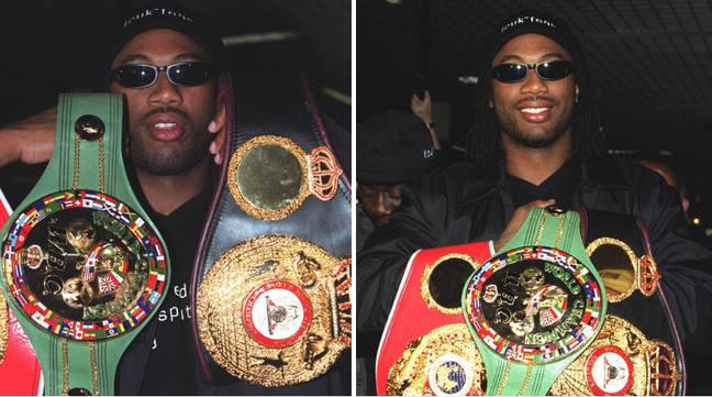 Lennox Lewis after becoming undisputed champion. Image: PA Images