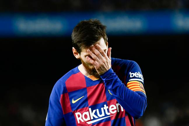 Life at the Camp Nou isn't good for Messi right now. Image: PA Images