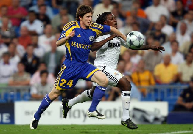 Royston Drenthe (right) representing Real Madrid in the Champions League. (Image Credit: PA)