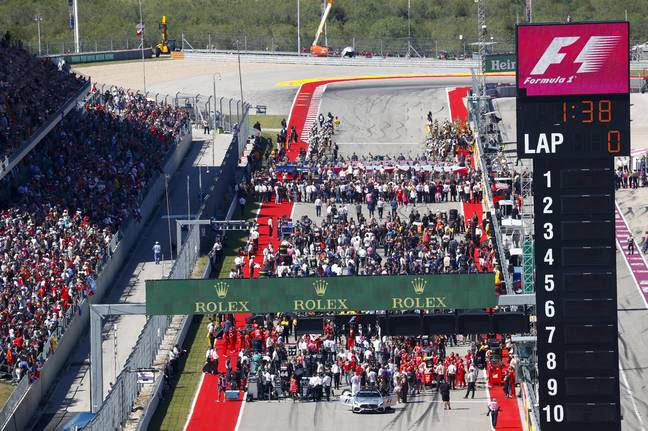 Formula One grids have a lot of people on them but now it'll be some of the public. Image: PA Images.