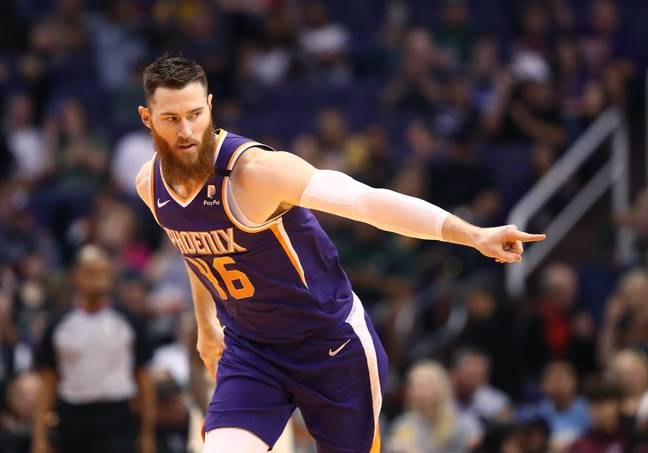 Aron Baynes of the Phoenix Suns. Credit: PA