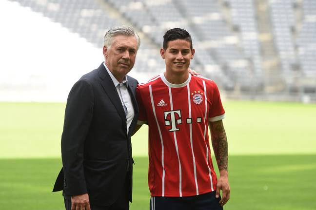 Ancelotti has managed Rodriguez at two clubs so far in his career. (Image Credit: PA)