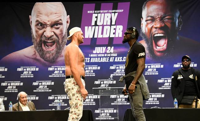 Wilder and Fury had already met face-to-face ahead of their latest fight. Image: PA Images