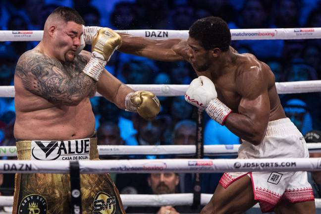 Ruiz Jr got badly outclassed by AJ in their rematch. Image: PA Images