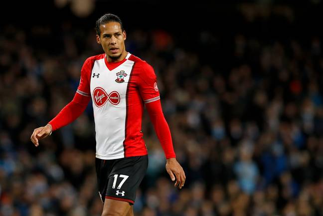 Van Dijk was still at Southampton at the time. Image: PA Images