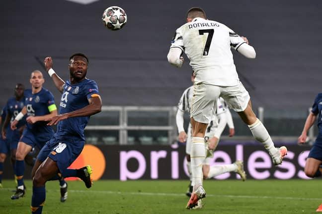 Ronaldo attempts to score vs Porto. Image: PA Images