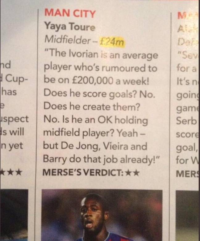 Paul Merson gives his analysis on the arrival of Yaya Toure from Barcelona in 2010.