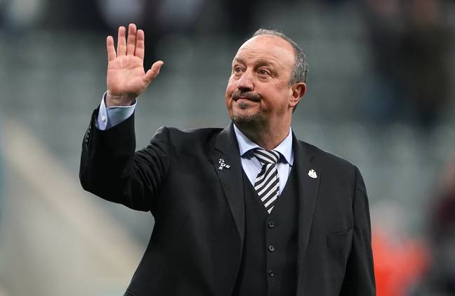 Benitez may have been waving goodbye to the Newcastle fans. Image: PA Images