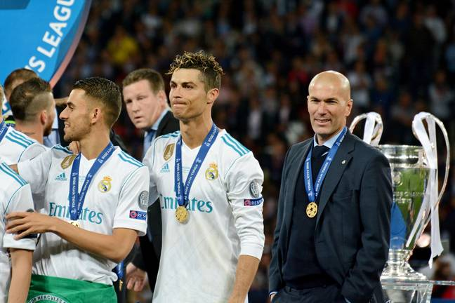 Zidane after Real Madrid's last Champions League victory (Image Credit: PA)