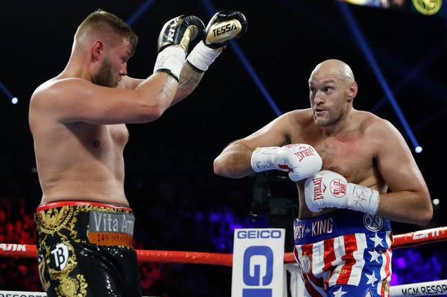 Tyson Fury stopped Tom Schwarz in the second round