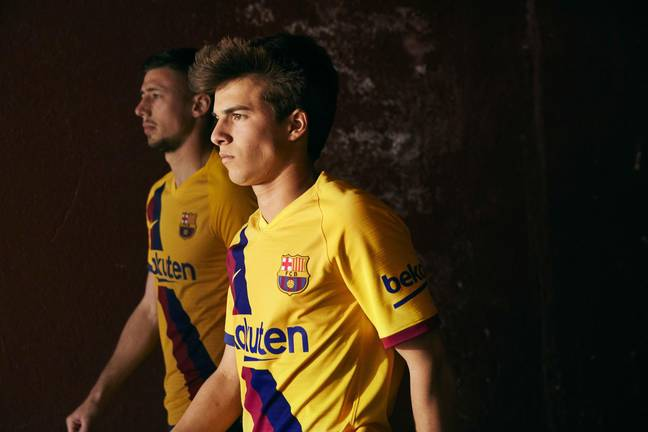 Barcelona's new away kit. Images: Nike