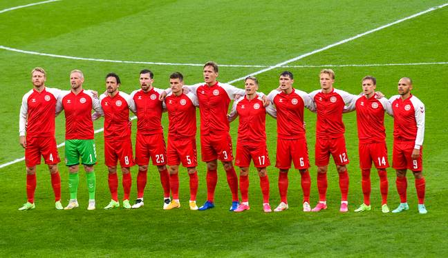 Booing could be heard during Denmark's anthem. Image: PA Images