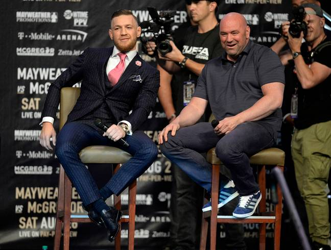 Dana White and Conor McGregor have engaged in a war of words on social media. Credit: PA