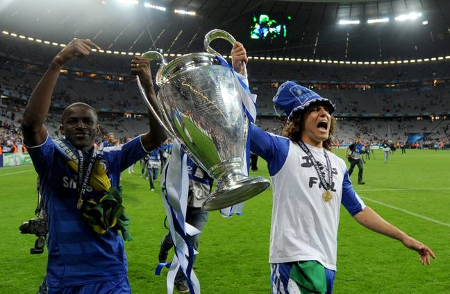 Ramires and fellow countryman David Luiz celebrate their Champions League victory. (Image Credit: PA)